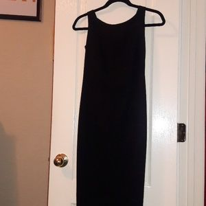 Laundry Petite Long Black Dress with Bow